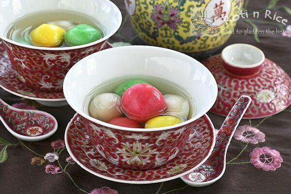 Tang Yuan (Glutinous Rice Balls) with Red Bean Paste Filling | Food to gladden the heart at RotiNRice.com
