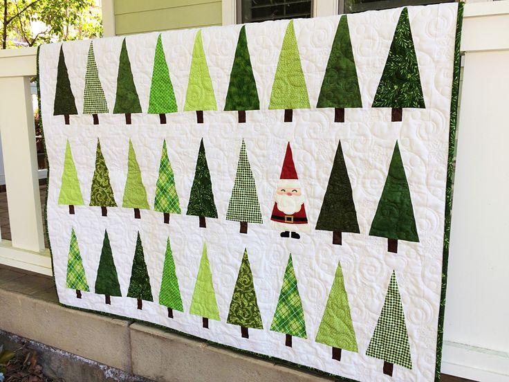 Santa In the Trees Laser Cut Quilt Kit