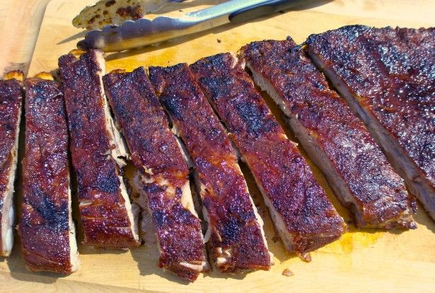 Best ribs ever--start them in the oven. Finish on the grill. Perfection!
