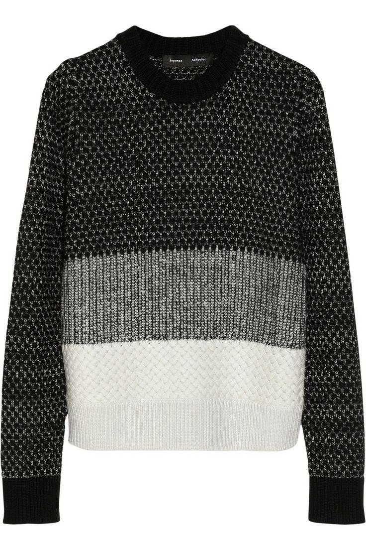 Proenza Schouler Wool, cashmere and silk-blend sweater NET-A-PORTER.COM