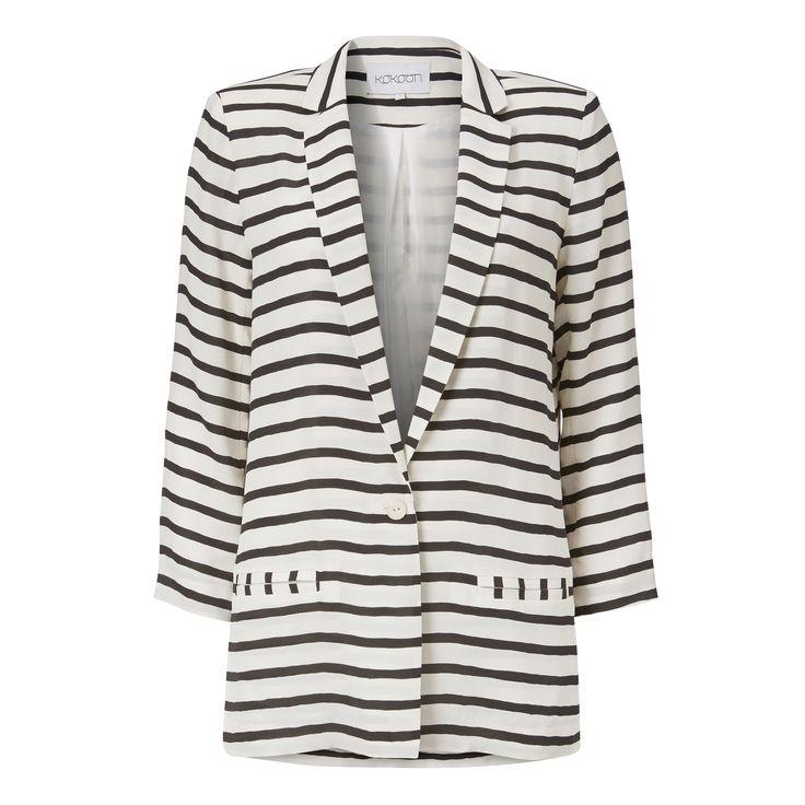 Nero blazer - stripe print