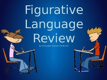 Looking for a way to review or informally quiz figurative language terms to your students? Figurative Language examples included in this product are simile, metaphor, onomatopoeia, hyperbole, personification, irony, alliteration, allusion, symbolism, imagery, and oxymoron.