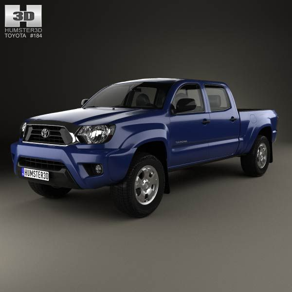 Toyota Tacoma Double Cab Long Bed 2012 3d model from humster3d.com. Price: $75