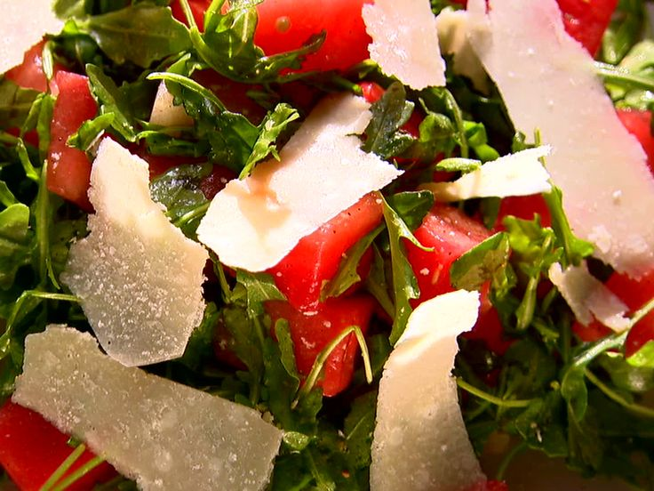 Love this Watermelon and Arugula Salad from FoodNetwork.com. Incredible contrast of flavors that makes you want more!