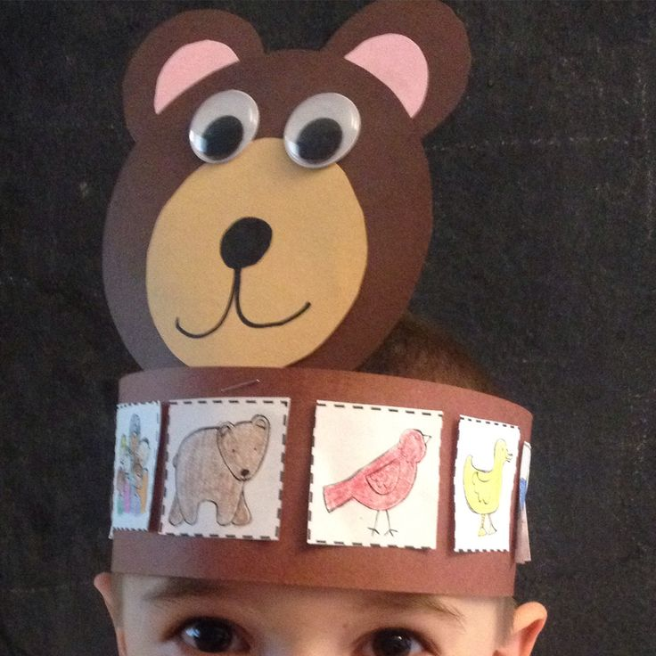 Brown Bear, Brown Bear sequencing hats!!  An awesome craftivity for students to…