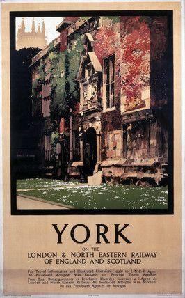 Kings Manor, York - LNER railway poster