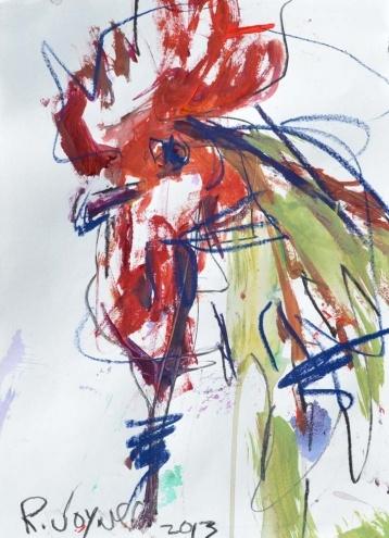 Rooster Study, painting by artist Robert Joyner
