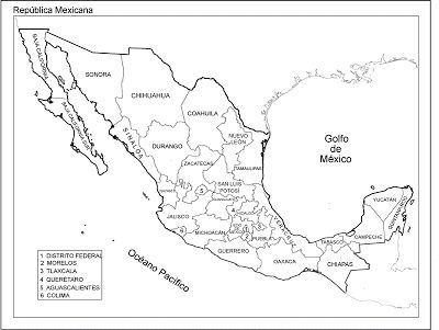 Mapa Republica Mexicana con nombres, División política - Que hay en Internet
