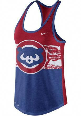 4ad9a9f4b Nike Chicago Cubs Womens Blue Dri-Blend Cooperstown Tank Top   chicagocubsbaseball