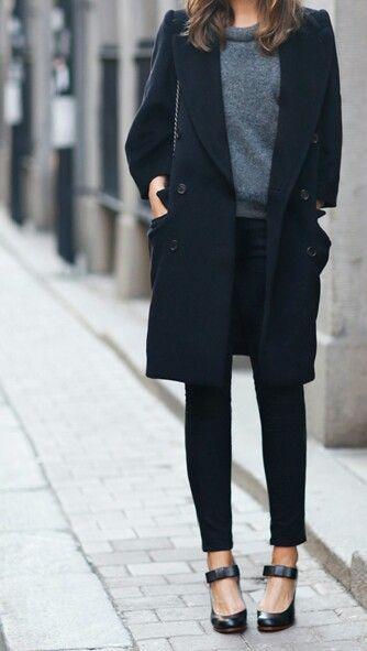 Grey, navy & black: