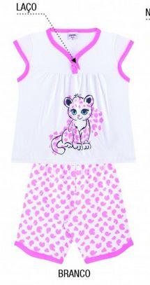 Pijama feminino estampa oncinha