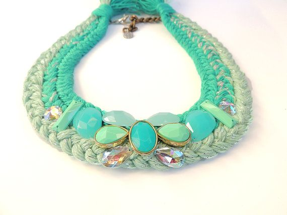 Hey, I found this really awesome Etsy listing at https://www.etsy.com/listing/212592839/mint-braided-necklace-braids-necklace