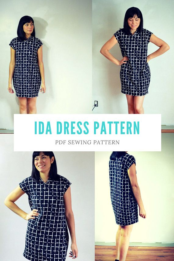 Ida Dress PDF printable sewing pattern and tutorial for