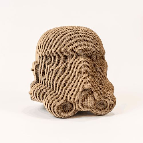 Stormtrooper of Starwars cardboard head for self assembly