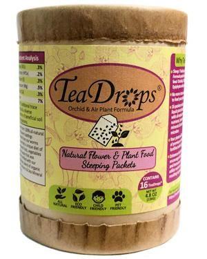 TeaDrops® Organic Plant & Flower Food Liquid Fertilizer Steeping Packets (Orchid, Bromeliad & Air Tillandsia Formula)