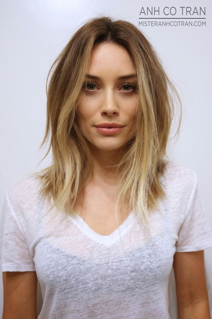 long bob, soft ombre, hair