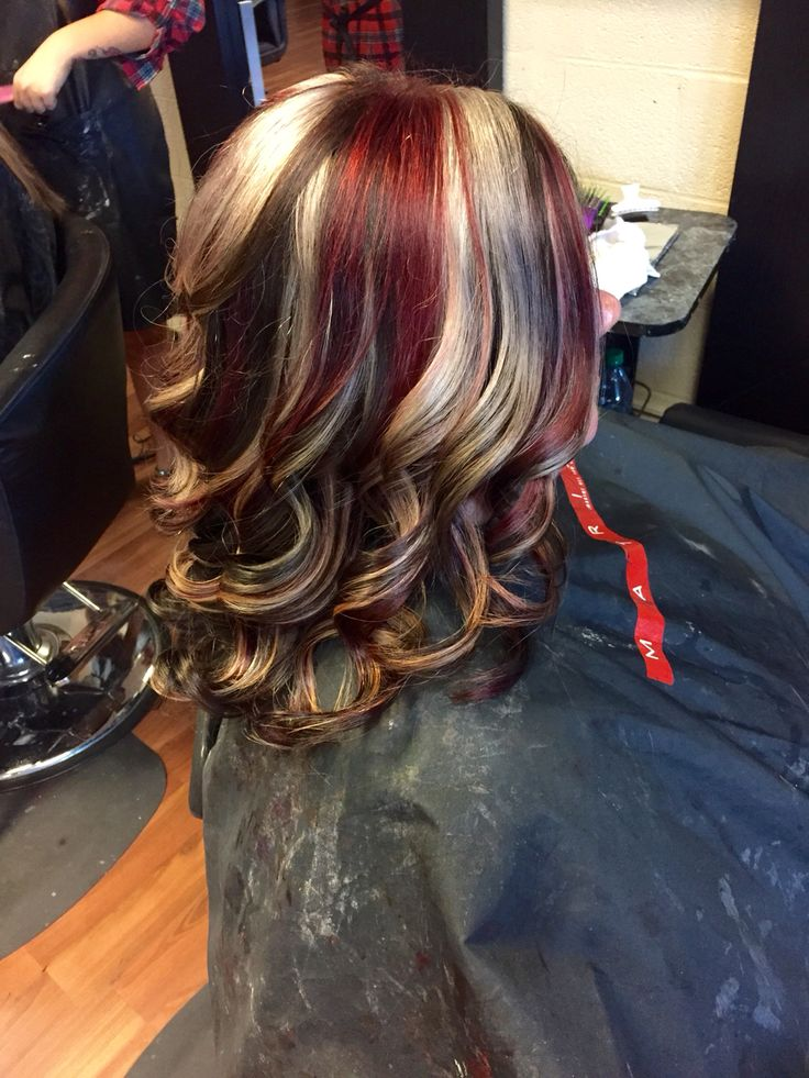 Red copper/blonde highlights … | Hair color auburn, Hair ... |Red Brown Hair Color With Blonde Highlights