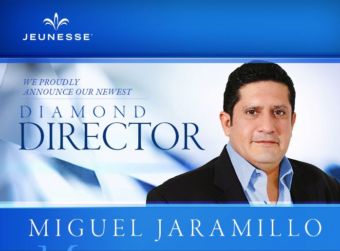 We proudly announce our newest Diamond Director, Miguel Jaramillo. Please join us in congratulating Miguel on his remarkable achievement. #Jeunesse