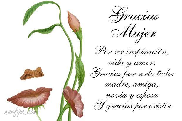 Palabras Bonitas De Admiracion Para Dedicar A Una Mujer Feliz Dia De La Mujer Dia De La Mujer Poemas Para Mi Esposa