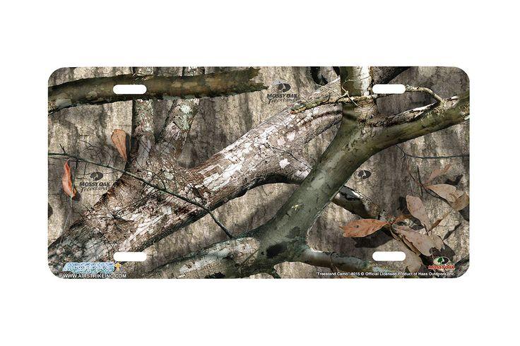 "Airstrike® Mossy Oak License Plate 8015-""Treestand Camo""-Mossy Oak Camo License Plate"