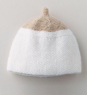 Modèle bonnet lin layette