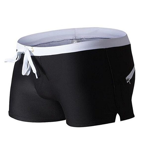 Low Waist Sexy Pouch Gay Mens Swimwear Mens Boxer Beach Shorts Swimsuit Swimming Trunks Swim Surf Bathing Suit