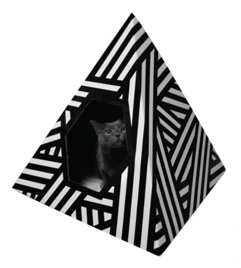 Love Thy Beast Energy Pyramid Cat House available at www.zoepetsupply.com
