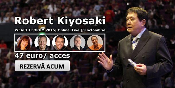 One-IT și Publicom recomandă: Robert Kiyosaki live, la Wealth Forum 2016…