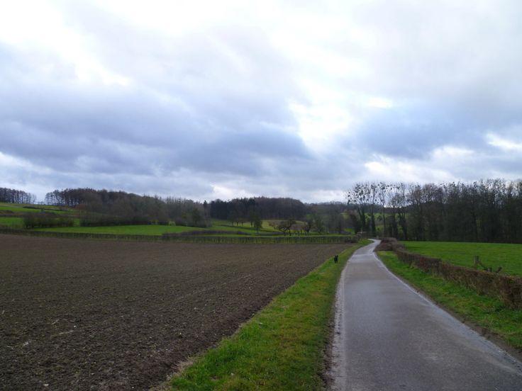 2014-01-01 Na Noorbeek loop je naar Altembrouck in Belgie