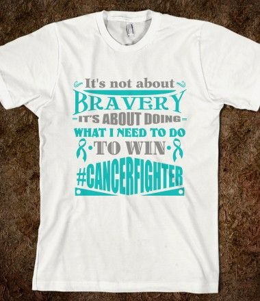 Peritoneal Cancer Not About Bravery Shirts by CancerApparelGifts.Com #Awareness #PeritonealCancer
