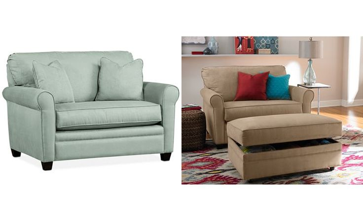Kaleigh Fabric Twin Sleeper Chair Bed: Custom Colors - Couches & Sofas - Furniture - Macy's