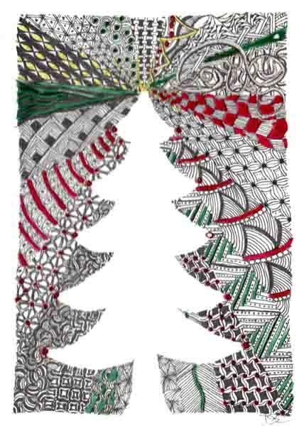 zentangle christmas - Google Search
