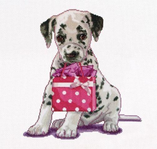 Puppy Went shopping - Compleet Borduurpakket - Borduren