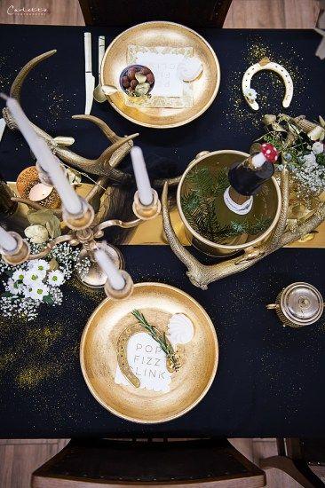 Glamour Decoration, Gold Black Decor, golden decoration, golden black table, new years eve table, glamour table, glamour table gold, Silvester, Silvester Tisch, Silvester Deko, Deko edel, Deko schwarz gold, edle demo, schwarz goldene Deko, Tischdeko glamour, Glamour Party