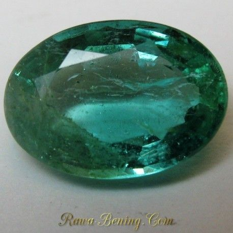Batu Oval Green Emerald VS 1.20 carat