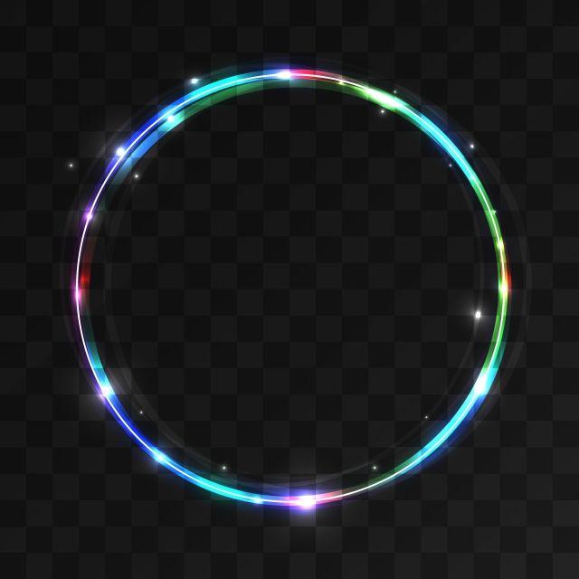 حلقة جميلة ملونة لامعة مع أضواء ناقلات دائرة ضوء خلفية Png والمتجهات للتحميل مجانا Circle Fashion Background Iphone Background Images