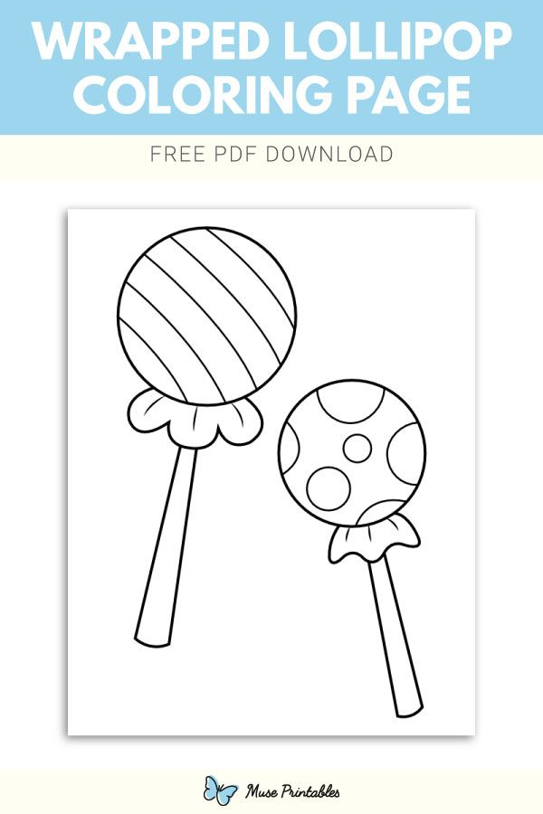 Free Wrapped Lollipop Coloring Page Coloring Pages Templates Printable Free Coloring Pages For Kids