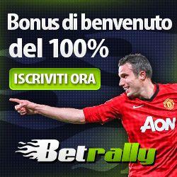 Betrally italia il miglior bookmakers online per le scommesse sportive che offre ai giocatori un bonus del 100% fino a 100 euro per i nuovi giocatori.