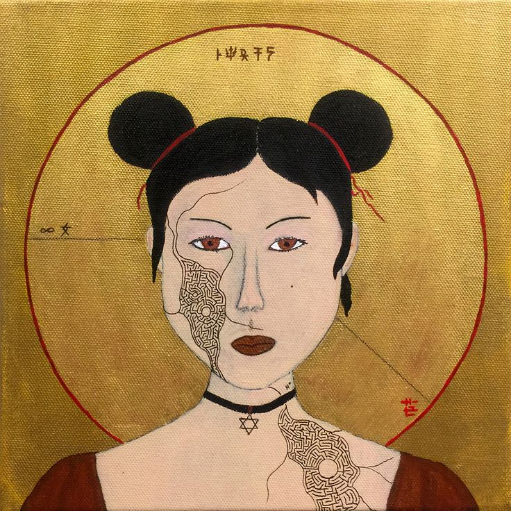 """""""Infinity Girl ro-202 (Cyber Religion)"""" by Baptiste Tavernier"""