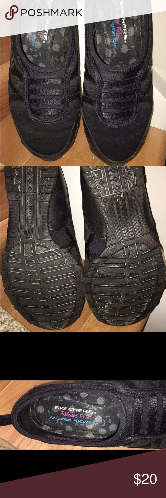 Sketchers walking shoes Women's slip on relaxed fit air cooled memory foam walking shoes. Worn twice. Like new. Skechers Shoes Sneakers