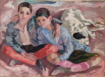 CARLO LEVI  (ITALIAN, 1902 - 1975)    Antonio Peppino e il cane Barone, 1935