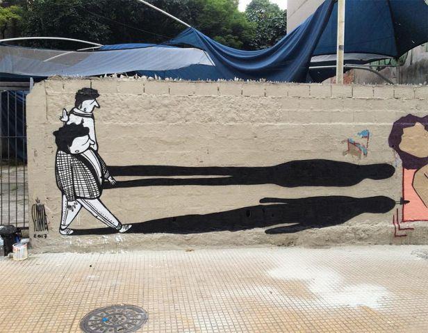 Street art de grafiteiro brasileiro se destaca com humor e trabalhos em preto e branco | Virgula
