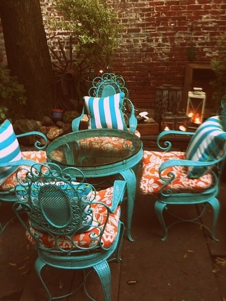 retro metal patio chairs vintage queen anne chair best 25+ iron furniture ideas on pinterest | wrought chairs, porch and ...