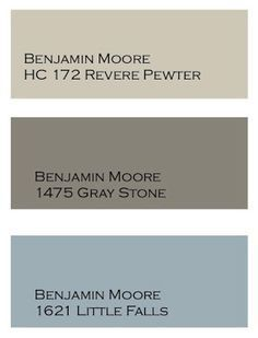 Exterior paint. Top color for the house. Middle color for the trim. Bottom color for the front door.
