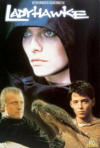 My favorite medieval movie of all time. Anachronistic weird 80s rock soundtrack and all! :)  Ladyhawke (1985)