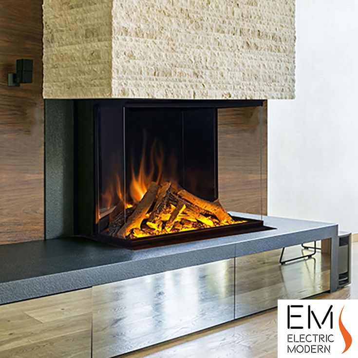 E32 H 3 Sided Electric Fireplace Modern Electric Fireplace Contemporary Fireplace Fireplace