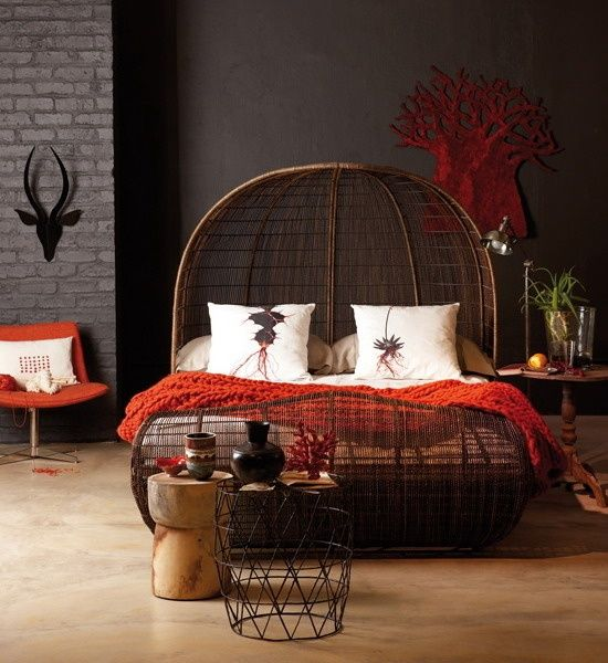 A little too dark, but I like these colors... Exotic Bedrooms | exotic bedroom…