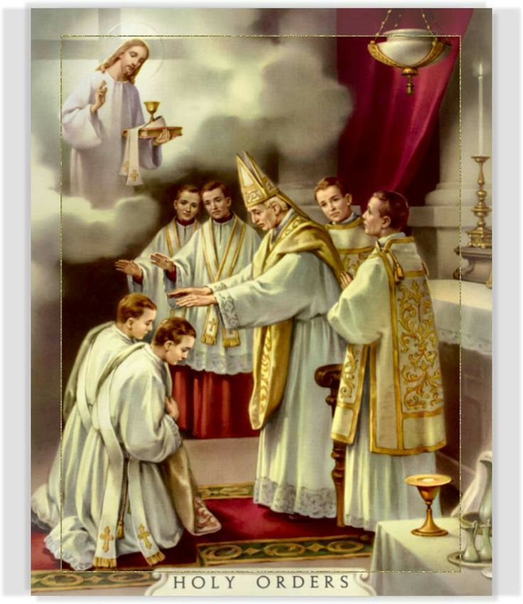 Image result for holy orders laying on of hands painting