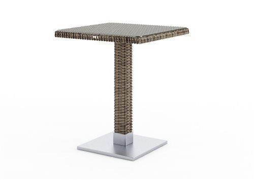 quadro stol 60x60x72 cm z umeleho ratanu pieskova