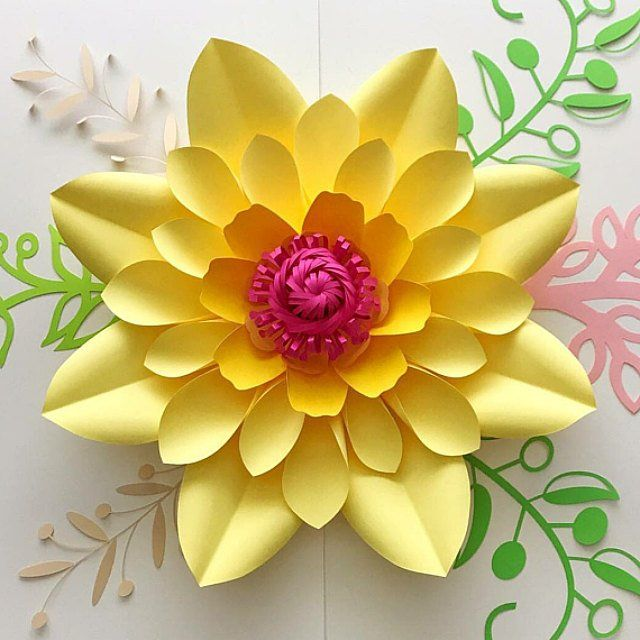 pdf petal 10 paper flowers printable template comes with flat center round  u0026 hexagonal base